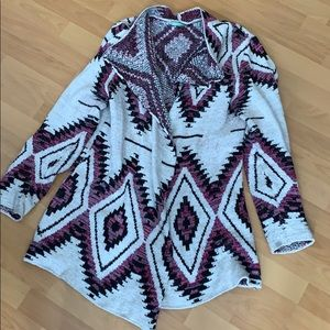 Maurices Aztec sweater cardigan